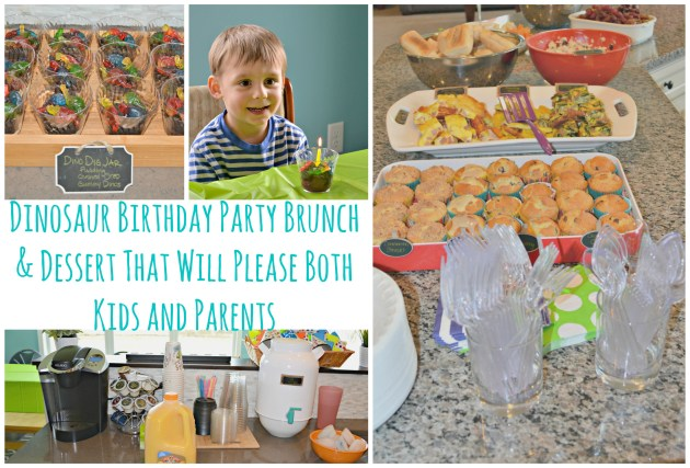 Dinosaur Birthday Party Brunch & Dessert that will Please Both Kids and Parents