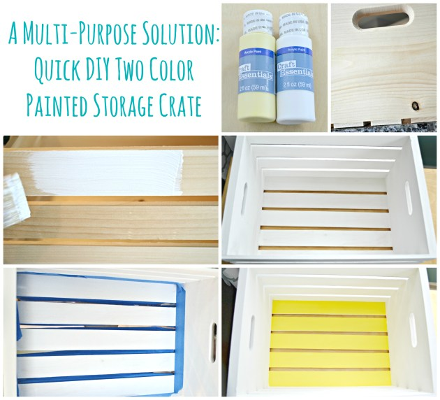 A Multi-Purpose Solution: Quick DIY Two-Color Painted Storage Crate | thisgratefulmama.com