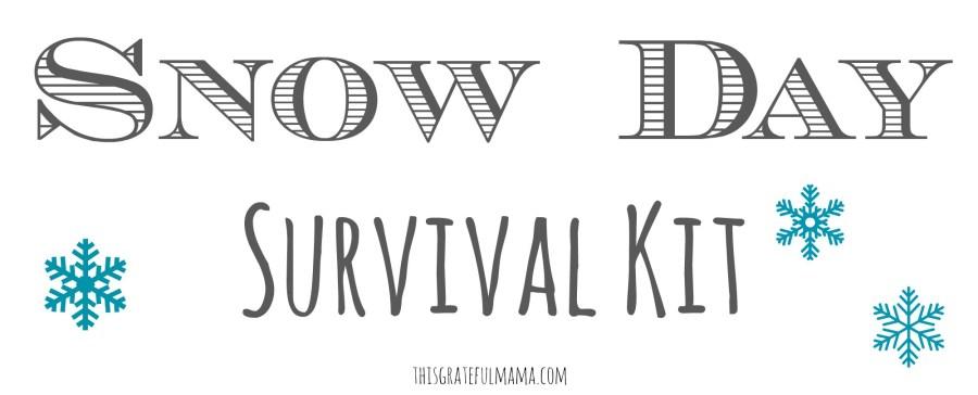DIY Snow Day Survival Kit | thisgratefulmama.com