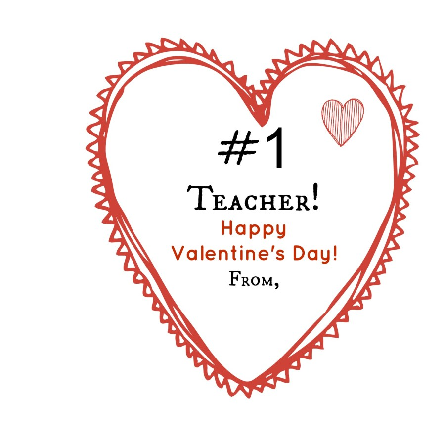 Number One Teacher Valentine | thisgratefulmama.com