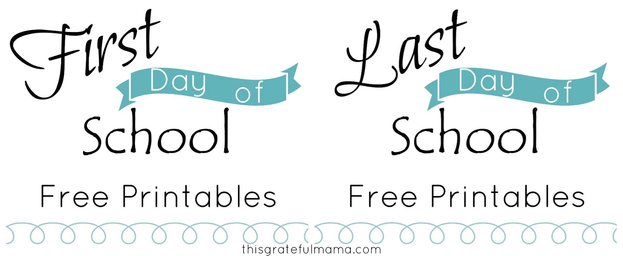 photo relating to Last Day of Preschool Sign Printable identify Very first Working day of College Indicator No cost Printable (with Matching Very last