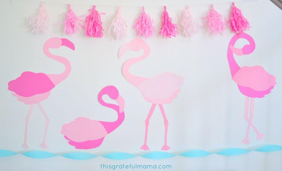DIY Pink Flamingo Birthday Party DecoDIY Pink Flamingo Birthday Party Decorations and Free Printable Templates | thisgratefulmama.com