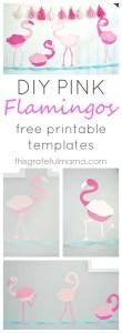 DIY Pink Flamingo Birthday Party Decorations and Free Printable Templates   thisgratefulmama.com