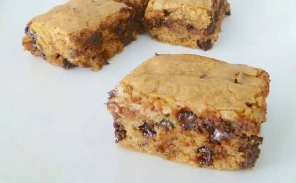 Cinnamon Chocolate Chip Blondies