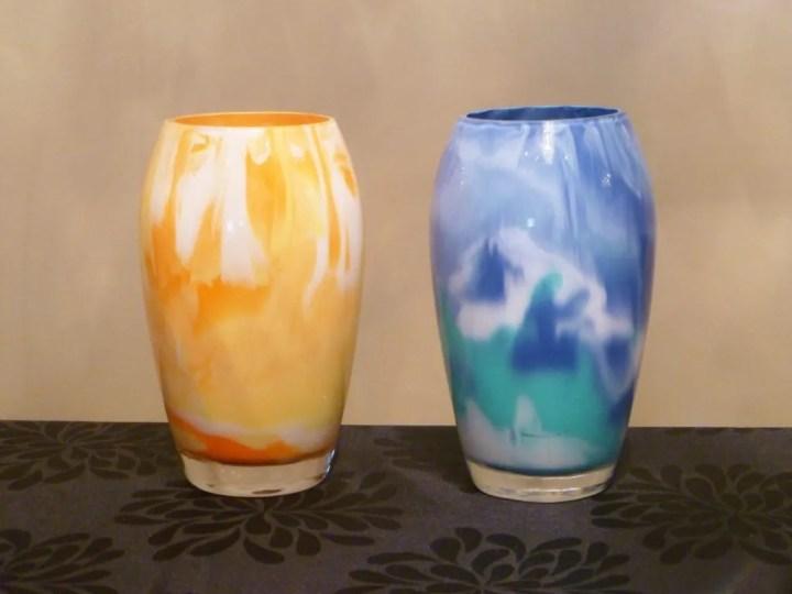 Swirl Painted Vases