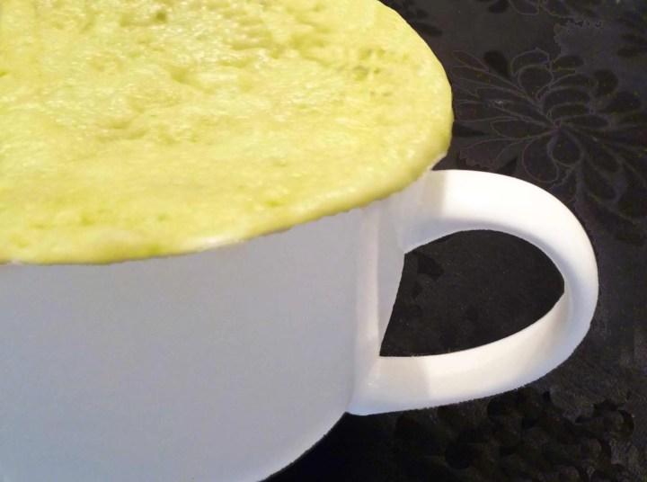 Mint Chocolate Chip Mug Cake