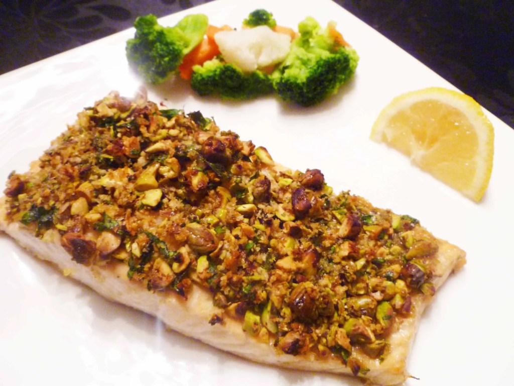 Pistachio crusted fish for Pistachio crusted fish
