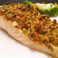 Panko Pistachio Crusted Salmon