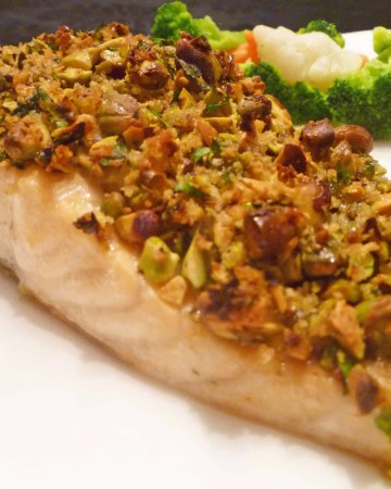 Panko Pistachio Crusted Salmon