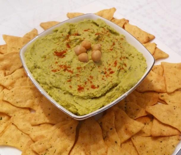 Avocado Basil Hummus