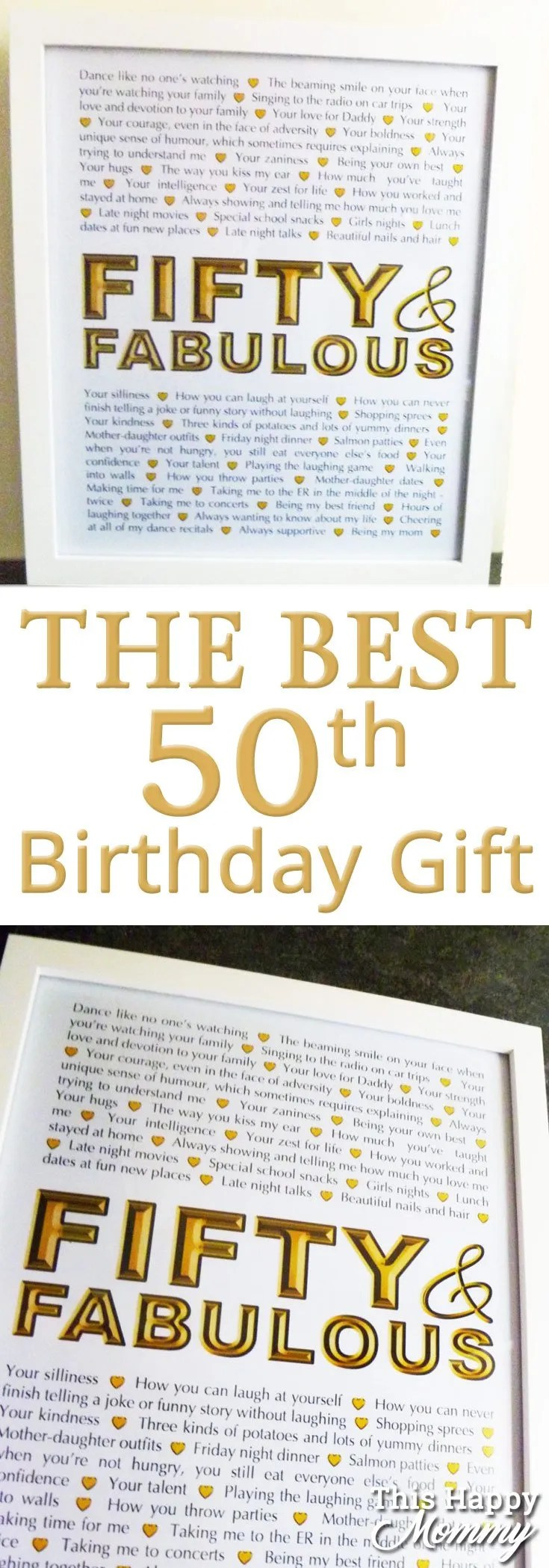 Fifty And Fabulous The Perfect Homemade 50th Birthday Gift