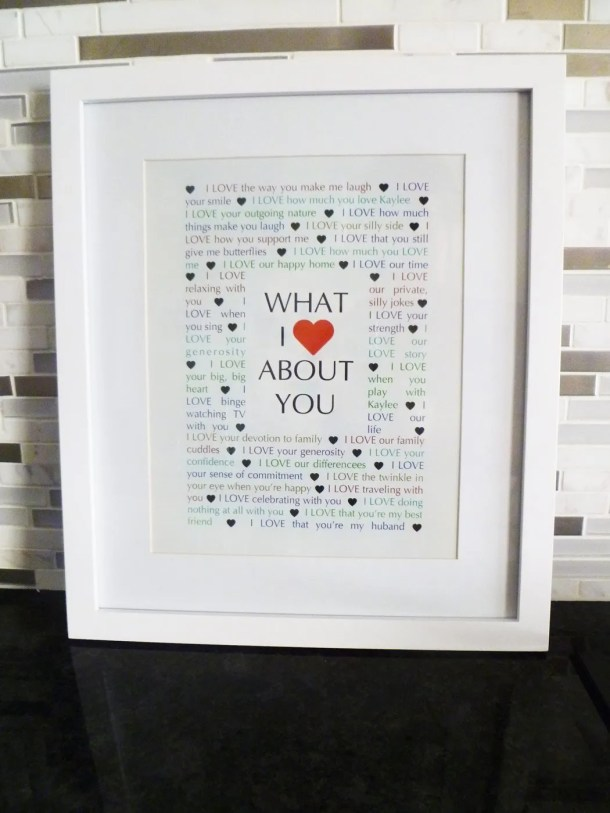 what i love about you -- Things We Love About You Gifts are the perfect birthday or anniversary presents. | thishappymommy.com