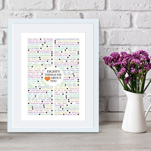 80 Things We {Love} About You | milestone birthday gift | birthday present | birthday gift
