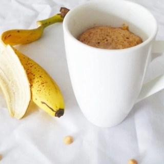 Banana Butterscotch Mug Cake