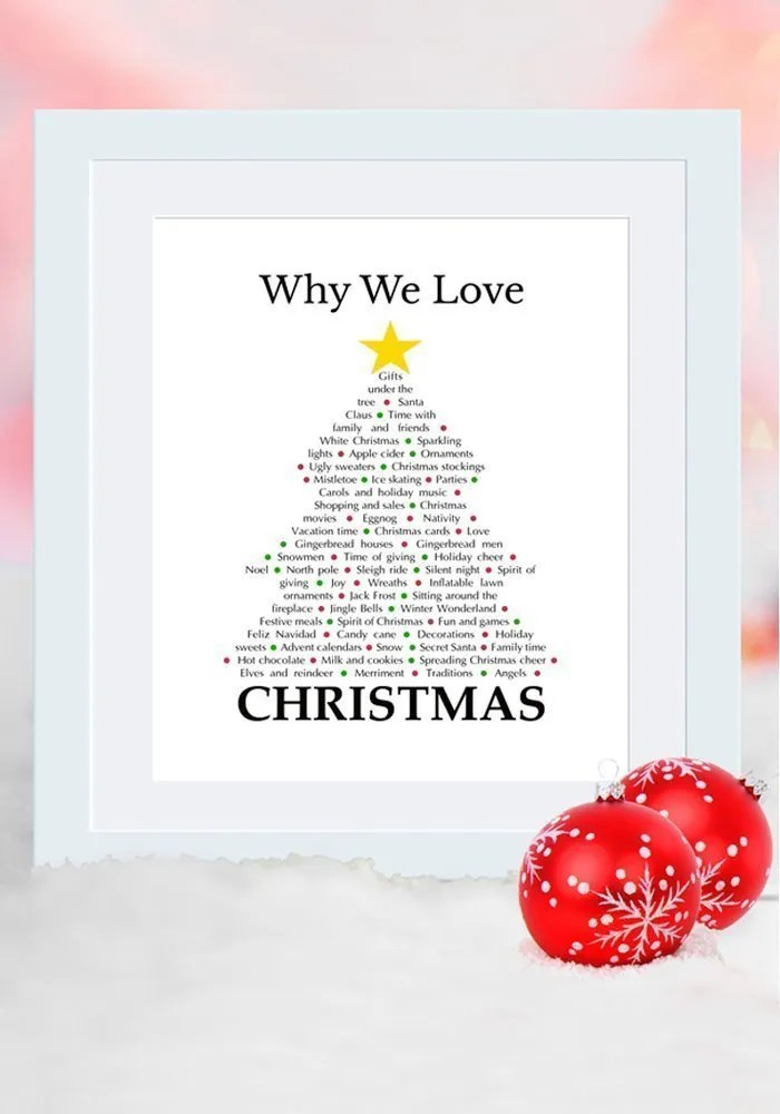 why we love christmas i love all the christmas memories in this gift - Christmas Decorations In Memory Of A Loved One