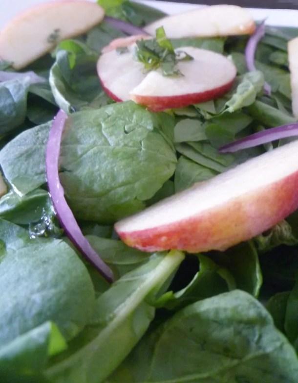 Apple Spinach Salad