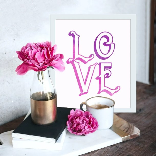 Love Wall Art | Valentine's Day printable
