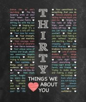 30 Things We {Love} About You - Chalkboard Edition