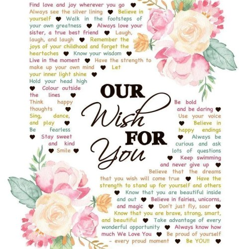 Our Wish For You -- There are so many wishes that you can have for a child. Whether they are a baby, a young child, or even an older one, Our Wish For You captures all the hopes and dreams for this special kid. Our Wish For You - Download is a completely customizable gift. This digital download is available as 8x10, 11x13, 11x14, 16x20. #babygift #birthdaygift #diy | thishappymommy.com