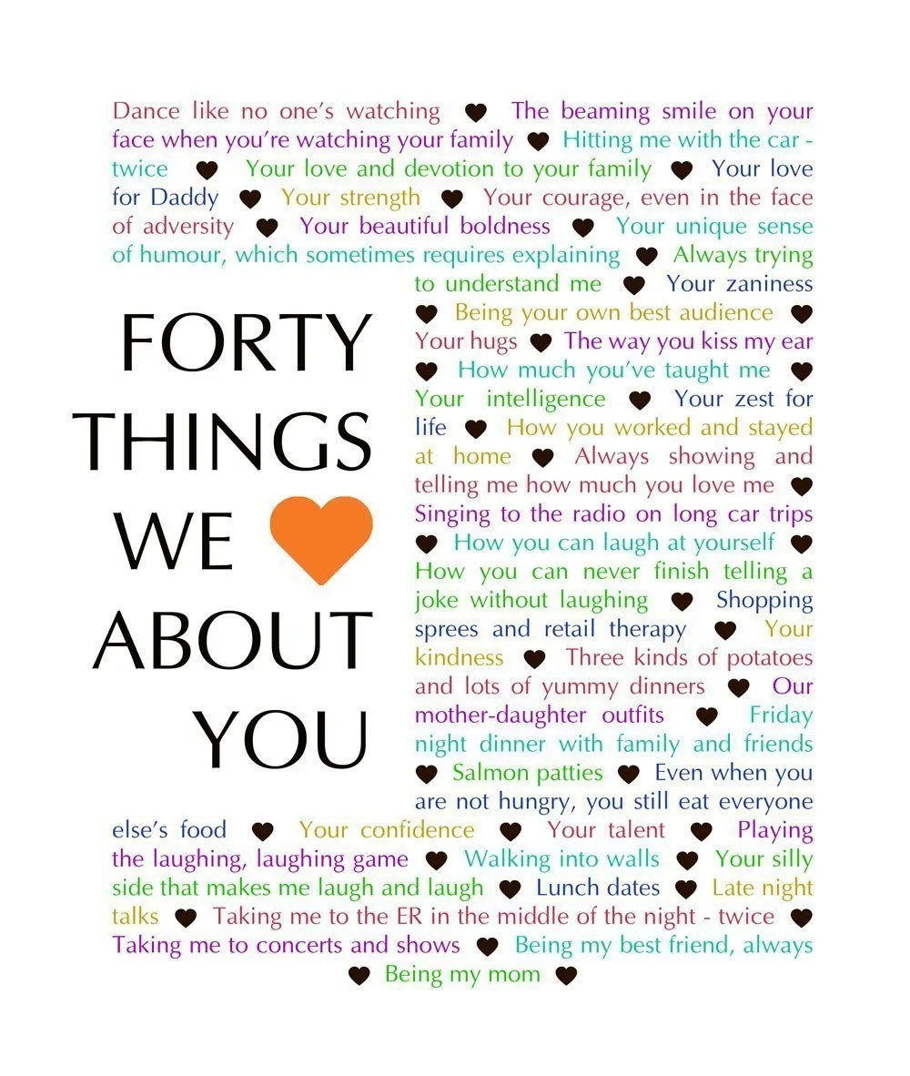 60 Things We {Love} About You - Download | 65 Things We {Love}