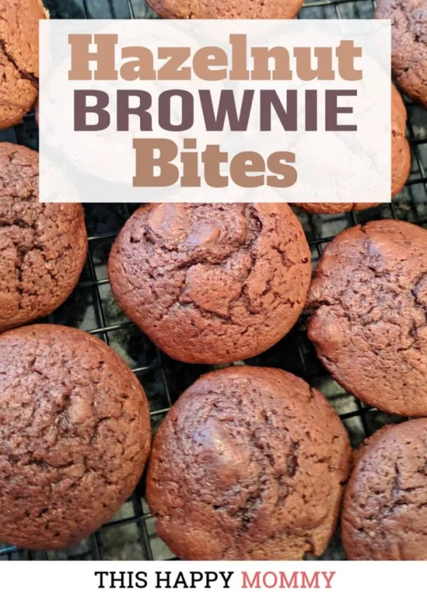 Decadent, chocolatey brownies that are sweet, satisfying, and yes, low fat. Best of all, Hazelnut Brownie Bites are so moist and chocolatey, no one will ever know that they are skinny desserts. Healthy Homemade Brownie | #recipe #dessert #chocolatedessert | this happymommy.com