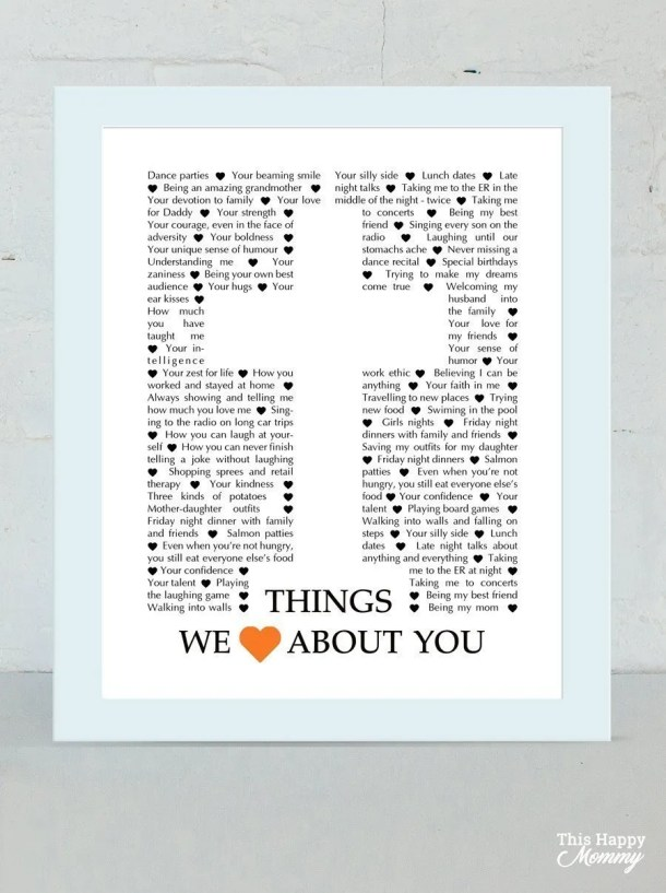 Things We Love About You - Cross Edition - best DIY gift for spiritual person - Faith birthday gift - Christmas gift - Mother's Day - Father's Day | thishappymommy.com