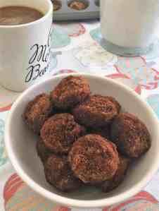 pumpkin spice donut holes in bowl