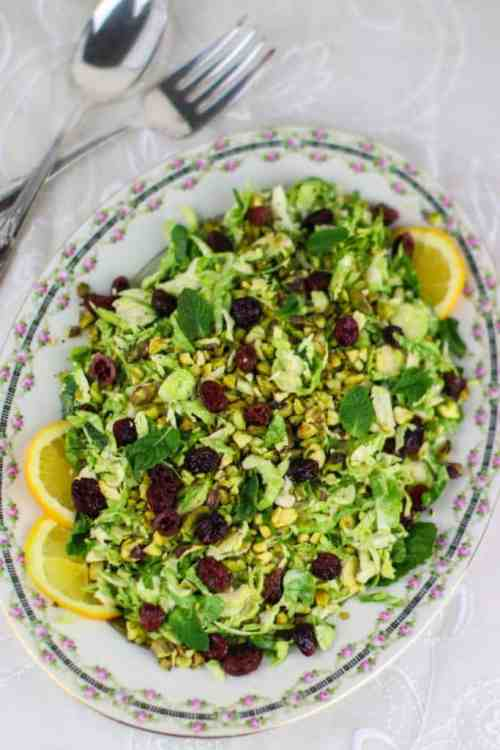 Healthy Midwestern Girl Shaved Brussels Sprouts Salad