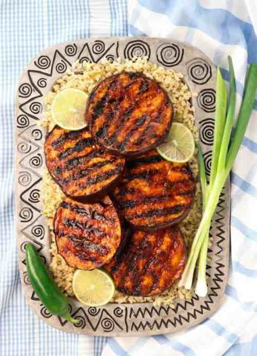 Sweet-Spicy-Grilled-Eggplant