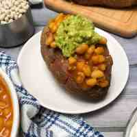 Loaded Sweet Potatoes with Baked Beans