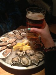 Best combo. Oysters and a pint of Beau's.