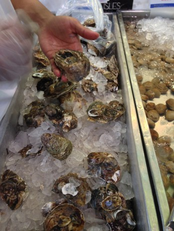 Blue Point oysters at Seafront Fish Market