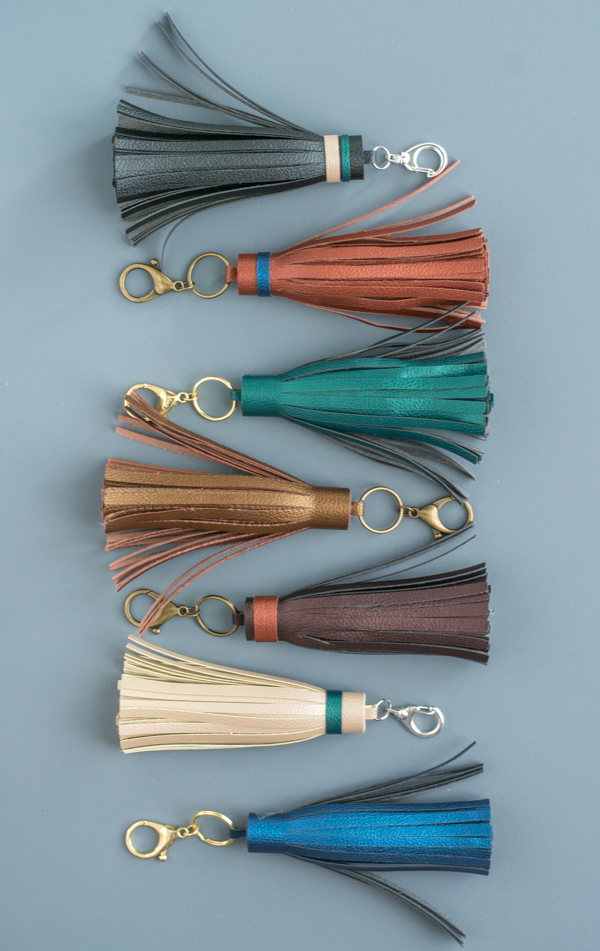 DIY Leather Tassel Key Chains with the Cricut