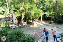 Resort basketball court