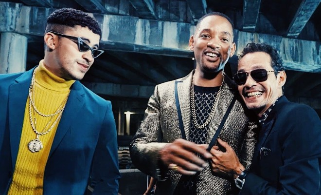 Making of marc anthony bad bunny will smiths esta rico video m4hsunfo