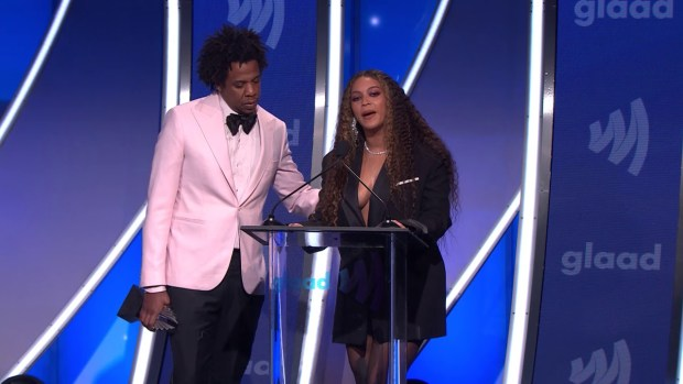 Beyoncé and JAY-Z tell LGBTQ people everywhere they love them at the 30th Annual GLAAD Media Awards