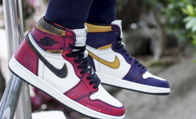 watch 599f9 fc250 From LA to Chicago: 'Wear-away' Nike SB x Air Jordan 1 Retro ...