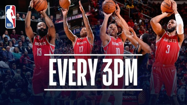 Houston Rockets Set New NBA Record For Made 3-Pointers