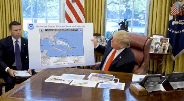 "Trump's ""Sharpied"" map of Hurricane Dorian is the meme you knew it would become #sharpiegate"