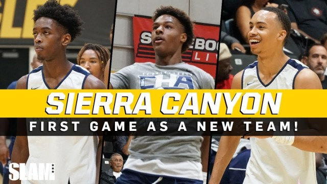 Dwayne Wade and Gabrielle Union attend Bronny James and Zaire Wade's Sierra Canyon game