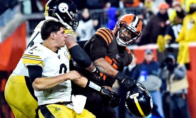 NFL says it found 'no such evidence' that Mason Rudolph used racial slur before last week's fight with Myles Garrett
