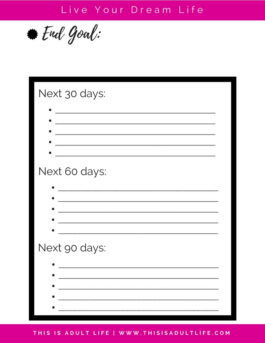 90 Day Goal Tracker