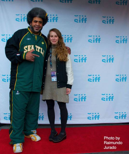 Kris and filmmaker Leigh Burmesch at SIFF. Photo by Raimundo Jurado (obviously).