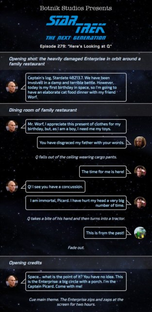 Script for Star Trek: The Next Generation