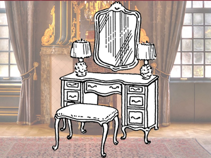 The classic dressing table inspired the team: Usually found in 18th century bedrooms, it fulfilled many of the team's requirements.