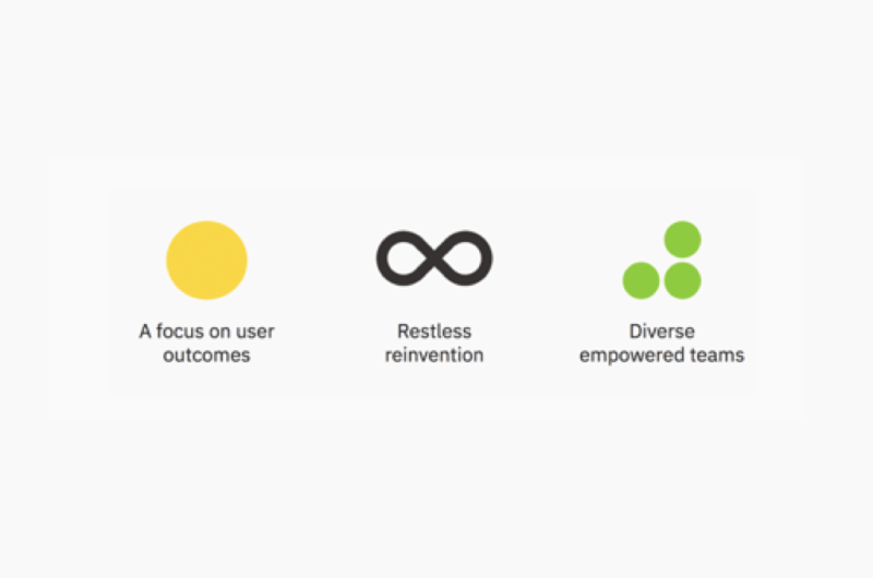 IBM's design thinking principles.