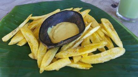 Frites de bananes