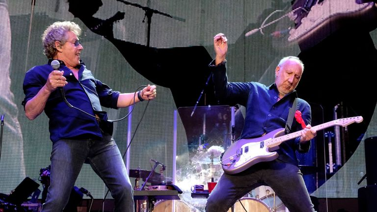 Roger Daltrey and Pete Townshend are the two remaining members of The Who