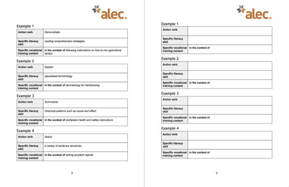 LOs worksheet eg