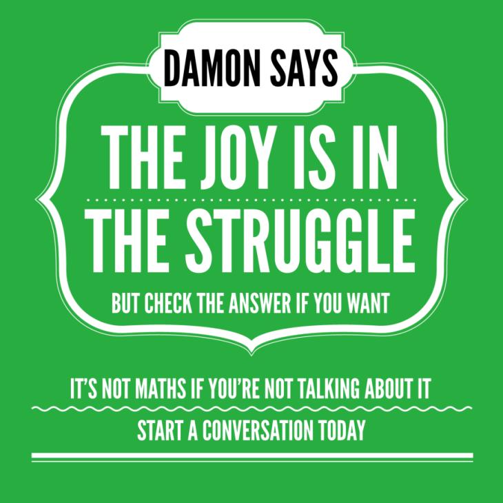 Damon says joy